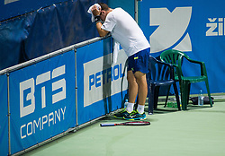 Dominik Koepfer (GER) reacts during 2nd Semifinal match at Day 8 of ATP Challenger Zavarovalnica Sava Slovenia Open 2018, on August 10, 2018 in Sports centre, Portoroz/Portorose, Slovenia. Photo by Vid Ponikvar / Sportida