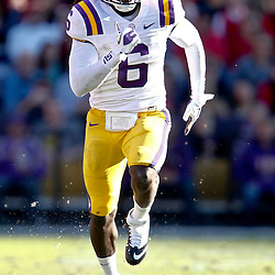 November 17, 2012; Baton Rouge, LA, USA  LSU Tigers safety Craig Loston (6) against the Ole Miss Rebels during a game at Tiger Stadium. LSU defeated Ole Miss 41-35. Mandatory Credit: Derick E. Hingle-US PRESSWIRE