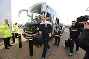 Sami Hyypia gets off the team buss at the iPro Stadium before the Sky Bet Championship match between Derby County and Brighton and Hove Albion at the Pride Park Stadium, Derby, England on 6 December 2014.
