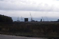 Building of Clinton Nuclear Power plant