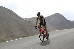 Romain Sicard (FRA) Direct Energie descends the Col du Galibier during Stage 4 of the 104th edition of the Tour de France 2017, running 183km from La Mure to Serre Chevalier, France. 19th July 2017.<br /> Picture: Eoin Clarke | Cyclefile<br /> <br /> All photos usage must carry mandatory copyright credit (&copy; Cyclefile | Eoin Clarke)