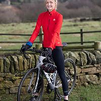 22/01/20 Holmfirth , West Yorkshire - Rachel Cullen , writer on her bike