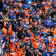 NEW YORK, NEW YORK - APRIL 08: New York Mets fans grab for a thrown t-shirt thrown into the crowd during the New York Mets Vs Philadelphia Phillies, Mets home opener at Citi Field on April 8, 2016 in New York City. (Photo by Tim Clayton/Corbis via Getty Images)