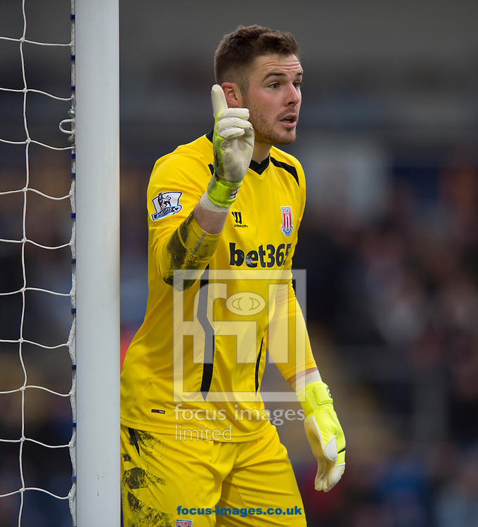 Stoke City goalkeeper Jack Butland during the FA Cup match at Ewood Park, Blackburn<br /> Picture by Russell Hart/Focus Images Ltd 07791 688 420<br /> 14/02/2015
