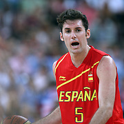 Rudy Fernandez, Spain, in action during the Men's Basketball Final between USA and Spain at the North Greenwich Arena during the London 2012 Olympic games. London, UK. 12th August 2012. Photo Tim Clayton