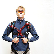 UK. London. Leo Houlding, climber, moutaineer and base jumper.