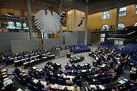 """22 MAR 2007, BERLIN/GERMANY:<br /> Uebersicht, Plenarsaal, Bundestagsdebatte zum Thema """"50 Jahre Roemische Verträge"""", Deutscher Bundestag<br /> IMAGE: 20070322-01-010<br /> KEYWORDS: Übersicht, Plenum, Reichstag, Bundesadler"""
