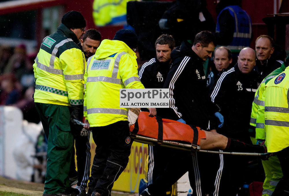 Derek McInnes looks on as Ryan Jack is stretchered off. Motherwell v Aberdeen, Scottish Premiership, Fir Park Stadium, Saturday 25 January 2014 (c) ANGIE ISAC | SportPix.eu