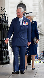 LONDON - UK - 10th May 2016: Britain's HRH The Prince of Wales and HRH TheDuchess of Cornwall attend the annual reunion service for the Victoria Cross and George Cross Association at St Martins-in-the-Fields Church, Trafalgar Sq, London.<br /> Photograph by Ian Jones