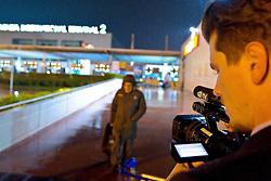 03.01.2011, Flughafen, Antalya, TUR, Ankunft Werder Bremen Trainingslager Belek Tuerkei 2011, im Bild  WERDER TV haelt die Ankunft im Trainingslager fest   EXPA Pictures © 2011, PhotoCredit: EXPA/ nph/  Kokenge       ****** out ouf GER ******