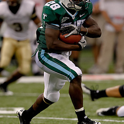 October 9, 2010; New Orleans, LA, USA;  Tulane Green Wave running back Payten Jason (28) runs with the ball during the second half against the Army Black Knights at the Louisiana Superdome. Army defeated Tulane 41-23.  Mandatory Credit: Derick E. Hingle