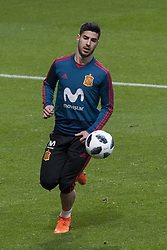 March 26, 2018 - Madrid, Madrid, Spain - Marcos Asensio (Real Madrid) during the training of the Spanish soccer team, before the friendly match between Spain and Argentina., on March 27, 2018. Wanda Metropolitano Stadium, Madrid, Spain. (Credit Image: © Jose Breton/NurPhoto via ZUMA Press)