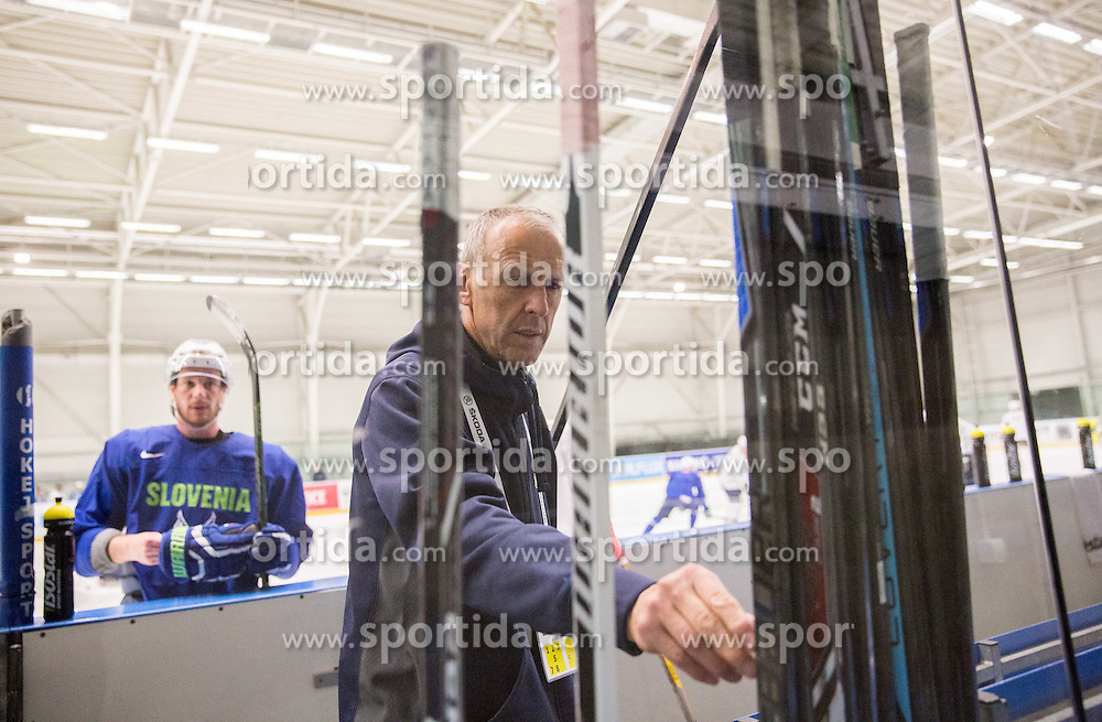 Drago Terlikar during practice session of Slovenian National Ice Hockey Team 1 day prior to the 2015 IIHF World Championship in Czech Republic, on April 30, 2015 in Practice arena Ostrava, Czech Republic. Photo by Vid Ponikvar / Sportida