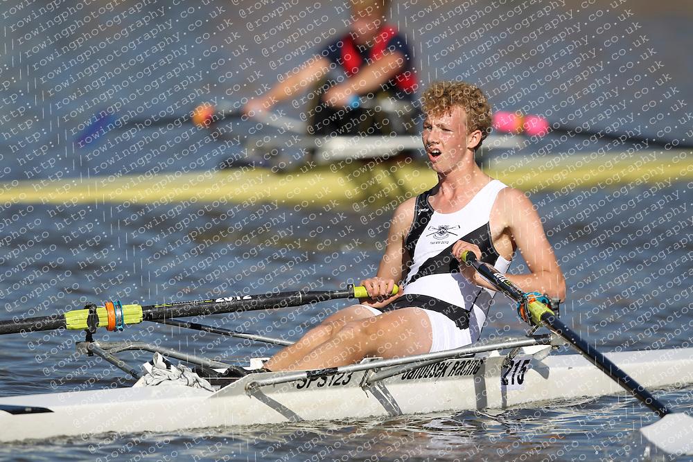 29.09.2012. Wallingford Long Distance Sculls 2012, The River Thames. Division 1. J17A 1x. St Pauls School Boat Club.
