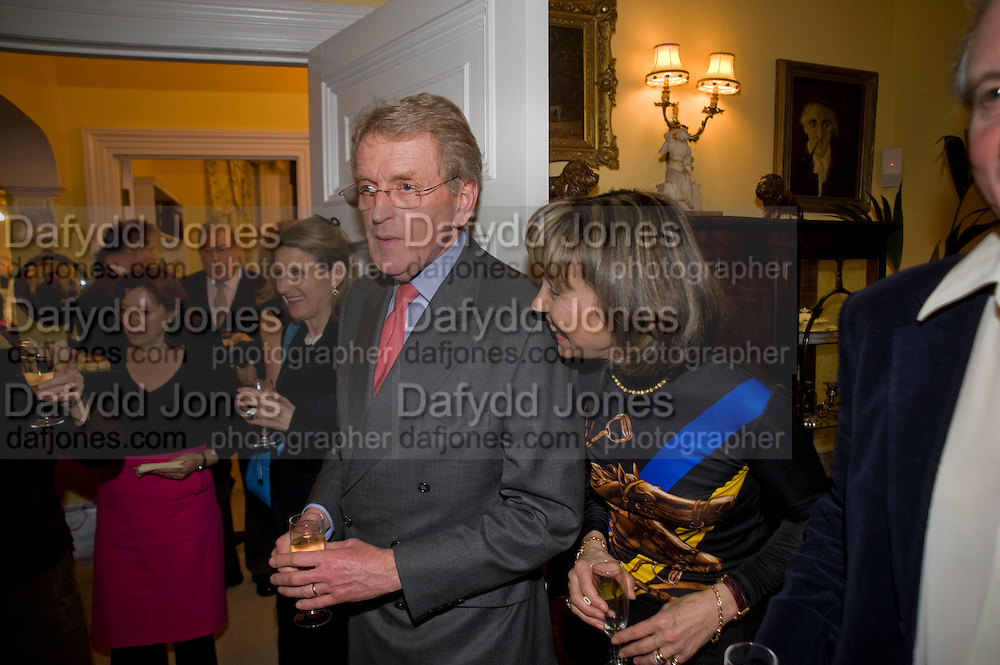 SIR CHRISTOPHER MEYER; LADY MEYER; CHARLES ANSON, Mrs. Richard Briggs at home to celebrate Catherine Meyer's birthday. Sloane Gardens. London. 28 January 2009 *** Local Caption *** -DO NOT ARCHIVE-© Copyright Photograph by Dafydd Jones. 248 Clapham Rd. London SW9 0PZ. Tel 0207 820 0771. www.dafjones.com.<br /> SIR CHRISTOPHER MEYER; LADY MEYER; CHARLES ANSON, Mrs. Richard Briggs at home to celebrate Catherine Meyer's birthday. Sloane Gardens. London. 28 January 2009