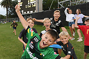 Young fans play cricket on the embankment during the Burger King Super Smash T20 cricket match between the Central Stags and the Northern Knights, McLean Park, Napier, Friday, January 25, 2019. Copyright photo: Kerry Marshall / www.photosport.nz