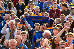 Shrewsbury Town fans celebrates winning the playoff semi-final against Charlton Athletic - Mandatory by-line: Robbie Stephenson/JMP - 13/05/2018 - FOOTBALL - Montgomery Waters Meadow - Shrewsbury, England - Shrewsbury Town v Charlton Athletic - Sky Bet League One Play-Off Semi Final