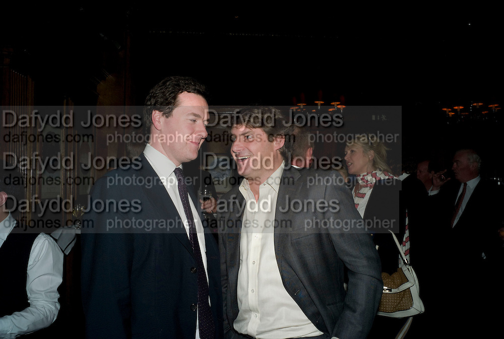 GEORGE OSBORNE; CHARLIE BROOKS, Book launch for Citizen by Charlie Brooks. Tramp. London. 1 April  2009