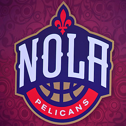 Jan 21, 2013; New Orleans, LA, USA; A detail of a secondary logo unveiled during a press conference to announce the rebranding of the New Orleans Hornets to the New Orleans Pelicans effective in the 2013-2014 NBA season at the New Orleans Arena. Mandatory Credit: Derick E. Hingle-USA TODAY Sports