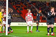 John Marquis of Doncaster Rovers (9) in action during the EFL Sky Bet League 1 match between Doncaster Rovers and Barnsley at the Keepmoat Stadium, Doncaster, England on 15 March 2019.