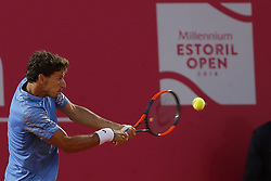 May 3, 2018 - Estoril, Estoril, Portugal - Pablo Carreno Busta from Spain in action during the match between Pablo Carreno Busta from Spain and Nicolas Kicker from Argentina for Millennium Estoril Open 2018 at Clube de Tenis do Estoril on May 03, 2018 in Estoril, Portugal. (Credit Image: © Dpi/NurPhoto via ZUMA Press)