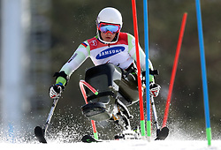 PYEONGCHANG-GUN, SOUTH KOREA - MARCH 17: Jernej Slivnik of Slovenia competes during the Alpine Skiing - Men's Slalom - Sitting during day eight of the PyeongChang 2018 Paralympic Games on March 17, 2018 in Pyeongchang-gun, South Korea. Photo by Vid Ponikvar / Sportida