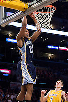 27 March 2007: Guard Rudy Gay of the Memphis Grizzlies dunks the ball against the Los Angeles Lakers during the first half of the Grizzlies 88-86 victory over the Lakers at the STAPLES Center in Los Angeles, CA.