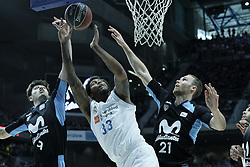 April 29, 2018 - Madrid, Madrid, Spain - TREY THOMPKINS  of Real Madrid in action during a Liga Endesa Basketball game between Estudiantes and Real Madrid, at the Palacio de los Deportes, in Madrid, Spain, 29 April 2018. (Credit Image: © Oscar Gonzalez/NurPhoto via ZUMA Press)