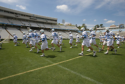 19 April 2008: North Carolina men's lacrosse during halftime while playing the Hofstra Pride at Kenan Stadium in Chapel Hill, NC.