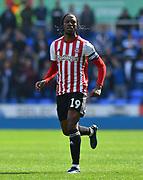 Romaine Sawyers (19) of Brentford during the EFL Sky Bet Championship match between Reading and Brentford at the Madejski Stadium, Reading, England on 13 April 2019.