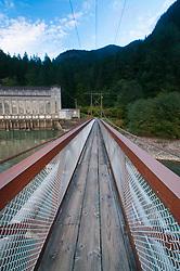 Foot Bridge to Ladder Creek Falls Trail, North Cascades National Park, Washington, US