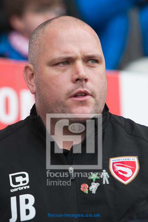 Morecambe manager Jim Bentley during the first round FA Cup match at the Globe Arena, Morecambe<br /> Picture by Matt Wilkinson/Focus Images Ltd 07814 960751<br /> 06/11/2016