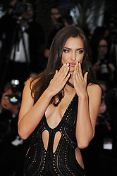 59680467  .Irina Shayk poses for photos as she arrives for the screening of the American film All Is Lost presented out of Competition at the 66th edition of the Cannes Film Festival in Cannes, southern France, May 22, 2013. Photo by: imago / i-Images. UK ONLY