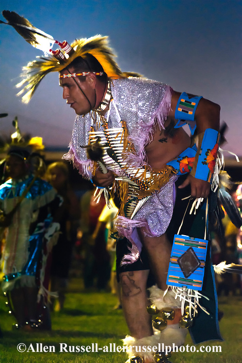 Traditional dancer, Crow Fair powwow, Crow Indian Reservation, Montana