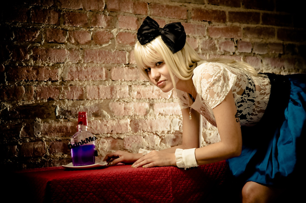 """Drink Me"" -- Fanciful ""Alice in Wonderland""-inspired shoot.  Model:  Ria Warner"