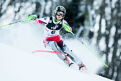 """Zettel Kathrin (AUT)  competes during FIS Alpine Ski World Cup 2014/15 5th Ladies' Slalom race named """"Snow Queen Trophy 2015"""", on January 4, 2015 in Crveni Spust hill at Sljeme near Zagreb, Croatia.  Photo by Vid Ponikvar / Sportida"""