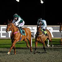 Able Dash and Richard Kingscote winning the 7.10 race