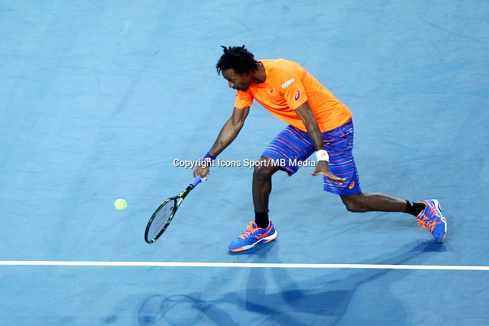 GAEL MONFILS - 06.02.2015 - Tennis - Open Sud de France- Montpellier<br /> Photo : Andre Delon / Icon Sport