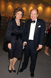 MR NICHOLAS and The HON.MRS WALLOP at the British Antiques Dealers Association antiques & Fine art fair in aid of the charity Childline held at the Duke of York Square, Chelsea, London on 23rd March 2006.<br />