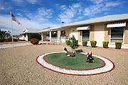 UNITED STATES-SUN CITY- Sun City, a retirement community in Arizona. Garden. PHOTO: GERRIT DE HEUS .VERENIGDE STATEN-SUN CITY-  Sun City. De tuin.  PHOTO GERRIT DE HEUS