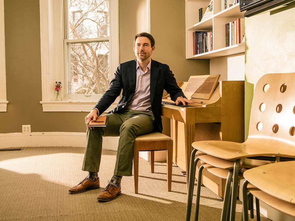 WASHINGTON, DC - FEB 3 Noah Bopp, Founder and Head of The School for Ethics and Global Leadership in DuPont Circle, Washington, DC. (Photo by Greg Kahn/GRAIN for The Washington Post)