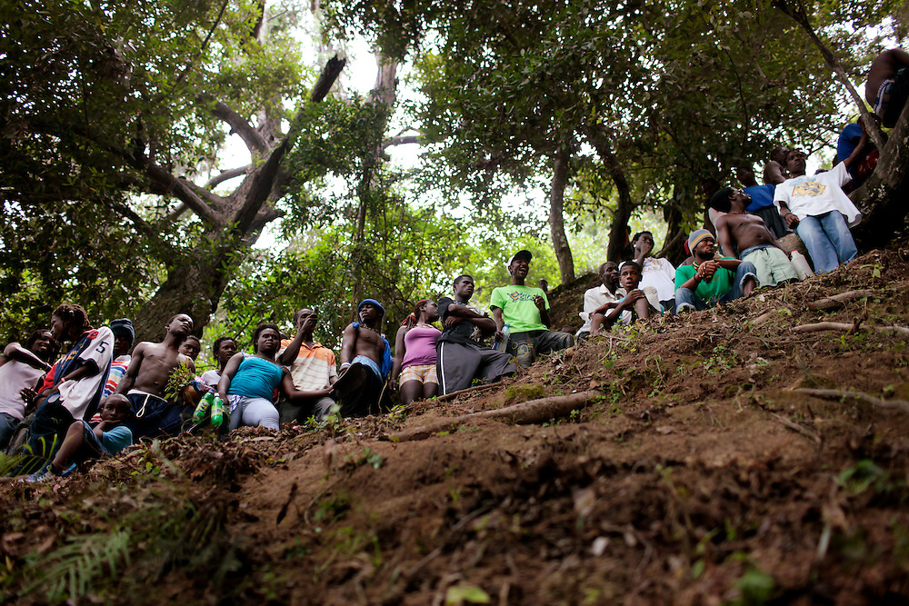 Every year, thousands of Haitians flock to Ville-Bonheur in Haiti for the July 16 feast of Our Lady of Mount Carmel. According to legend, the Virgin Mary showed herself in the mid-1800s on a tree near the waterfall. Every year since, Haitians make the pilgrimage to the waterfall to be blessed in the sacred water. July 2010 was no exception. Following the devastating magnitude-7.0 earthquake that hit the country in January 2010, the prayers were many.