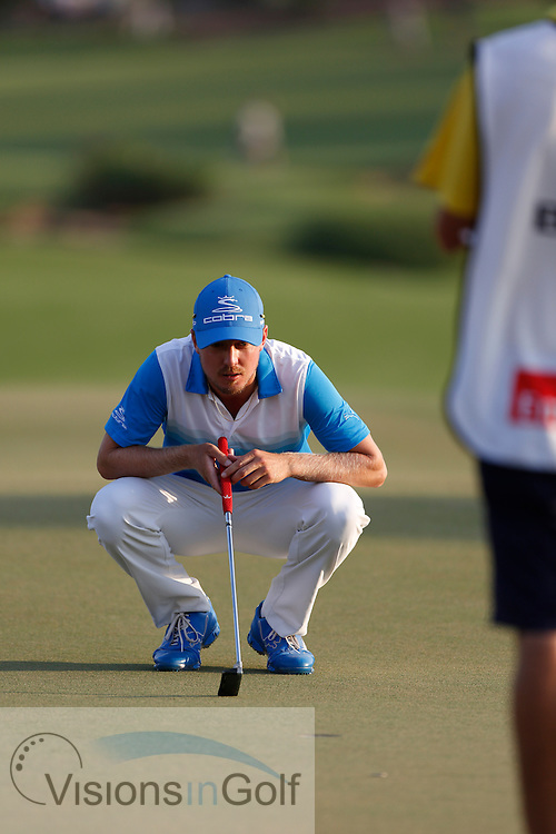 Jonas Blixt<br /> during the third round of the Race To Dubai DP World Tour Golf Championship, Dubai, UAE November  2013<br /> Picture Credit:  Mark Newcombe / www.visionsingolf.com
