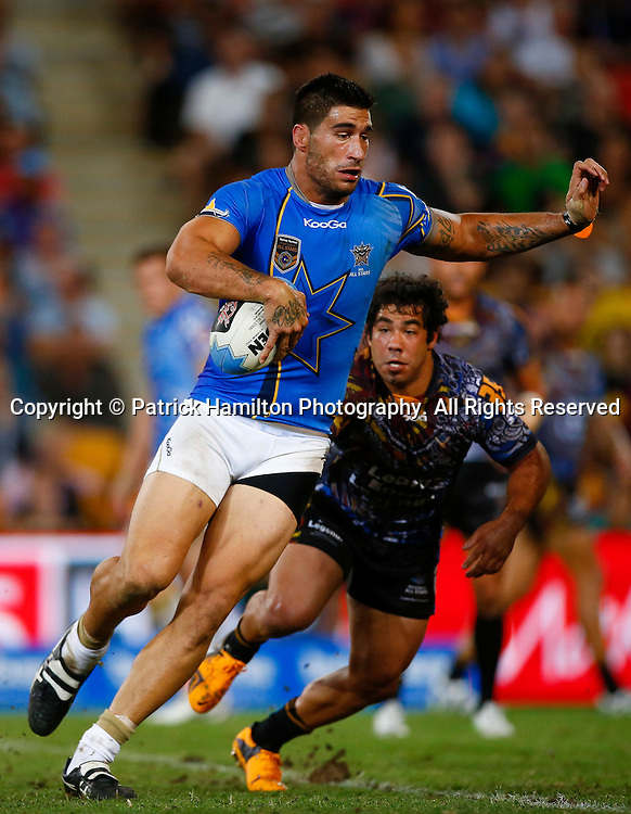 James Tamou during the NRL All Stars game at Suncorp Stadium, Brisbane on February 09, 2013.