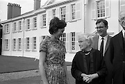 22/08/1963<br /> 08/22/1963<br /> 22 August 1963<br /> Mr Frank Aiken and family with President de Valera at Áras an Uachtaráin. Image shows  Aedamar Aiken; Sile de Valera; Frank Aiken Jr. and President Eamon de Valera;