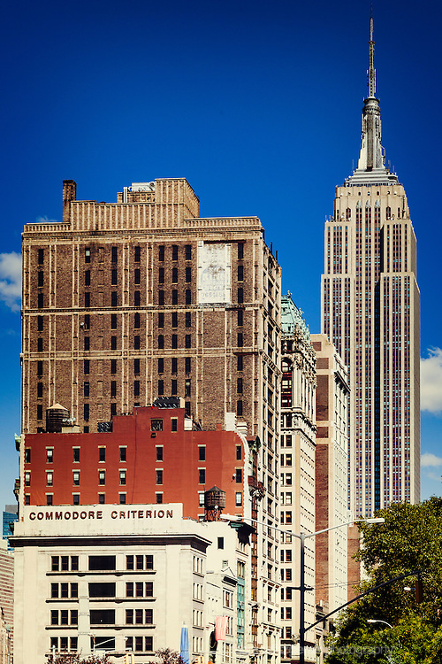 The Empire State building and 5th Avenue as seen from the FLatiron District