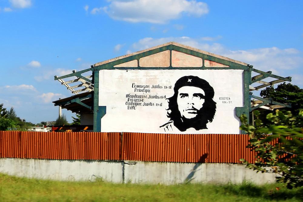 Che Guevara sign in Cienfuegos, Cuba.