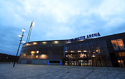General view of the Blue Water Arena before the international friendly match between Denmark U21 and England U21.