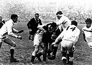 Colin Meads. England v All Blacks rugby test. Twickenham, London. 4 November 1967.