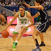 Kayla McBride, Notre Dame, in action during the Connecticut V Notre Dame Final match won by Notre Dame during the Big East Conference, 2013 Women's Basketball Championships at the XL Center, Hartford, Connecticut, USA. 11th March. Photo Tim Clayton